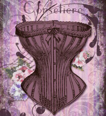 French Vintage lingerie fashion corset art Sticker