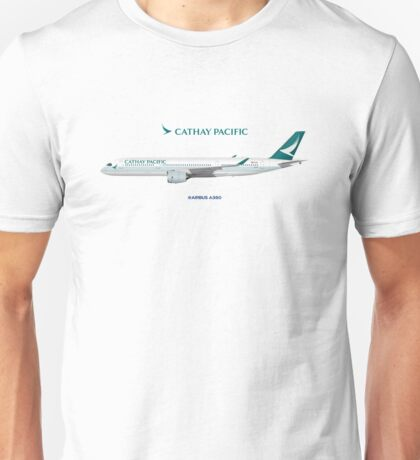 Illustration of Cathay Pacific Airbus A350 Unisex T-Shirt