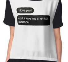 """I Love You"" Chiffon Top"