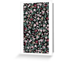 black flowers backgrounds  Greeting Card