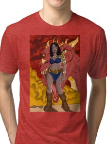 Mike Kennedy's Rubenette and The Dragon Tri-blend T-Shirt