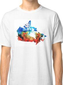 Canada - Canadian Map By Sharon Cummings Classic T-Shirt