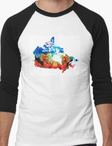Canada - Canadian Map By Sharon Cummings Men's Baseball ¾ T-Shirt