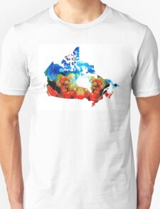 Canada - Canadian Map By Sharon Cummings Unisex T-Shirt