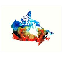 Canada - Canadian Map By Sharon Cummings Art Print