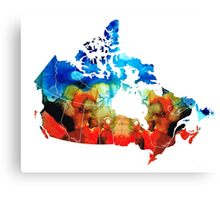 Canada - Canadian Map By Sharon Cummings Canvas Print