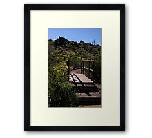 Cross The Bridge And Follow The Path Framed Print