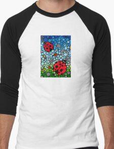 Joyous Ladies Ladybugs Men's Baseball ¾ T-Shirt