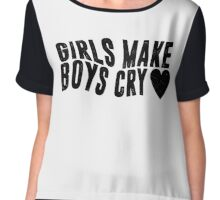 Girls Make Boys Cry (White) Chiffon Top