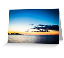 The castle and the lighthouse of Trieste Greeting Card