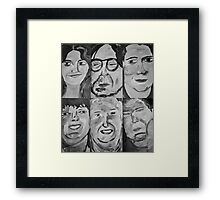 6 People Framed Print