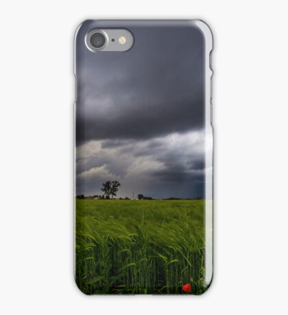 storm over the fields iPhone Case/Skin