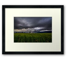 storm over the fields Framed Print