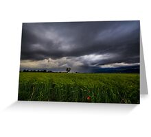 storm over the fields Greeting Card
