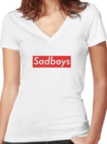 Sadboys Redbox  Women's Fitted V-Neck T-Shirt