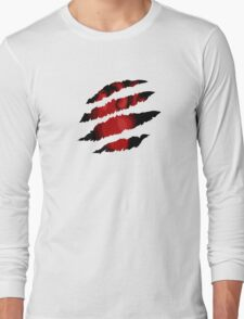 Scratched Heart Long Sleeve T-Shirt