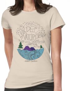Einstein: Nature Womens Fitted T-Shirt