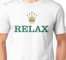 Relax Text with Golden Crown Unisex T-Shirt