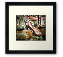 Shoe Shopping Framed Print