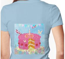 Birthday Cake, Garden Party festive whimsical art Womens Fitted T-Shirt
