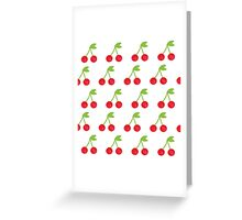 Cherry seamless background or pattern Greeting Card