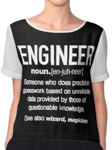 Engineer Definition Funny Chiffon Top