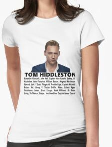 Tom Hiddleston Filmography Womens Fitted T-Shirt