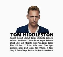 Tom Hiddleston Filmography Unisex T-Shirt