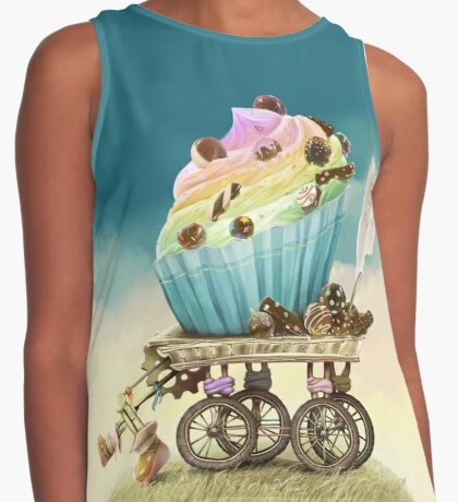 Eat me, Tasty Cupcake, Full version Contrast Tank
