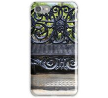 Ornate antique bench belle isle iPhone Case/Skin