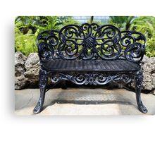 Ornate antique bench belle isle Canvas Print