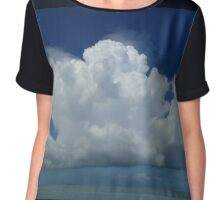 Fluffy clouds over the water Chiffon Top