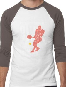 Never Underestimate an Old Man with a Pickleball Paddle Men's Baseball ¾ T-Shirt