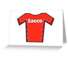 Retro Jerseys Collection - Saeco Greeting Card