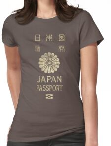 Japanese Passport Womens Fitted T-Shirt