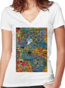 Visions of a Good LIFE Women's Fitted V-Neck T-Shirt