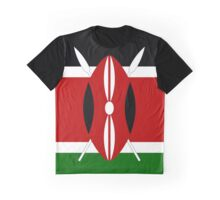 Kenyan Flag Banner Graphic T-Shirt