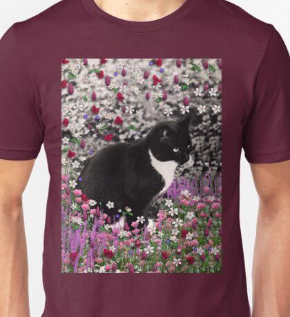 Freckles in Flowers II - Tuxedo Cat Unisex T-Shirt
