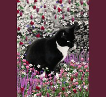 Freckles in Flowers II - Tuxedo Cat Unisex T-Shirt