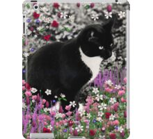 Freckles in Flowers II - Tuxedo Cat iPad Case/Skin