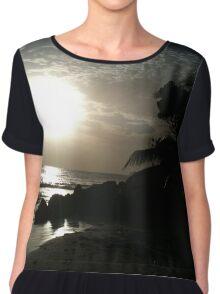 Sunset Silhouette Barbados Chiffon Top