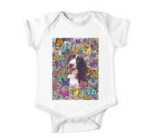 Lady in Butterflies - Brittany Spaniel One Piece - Short Sleeve