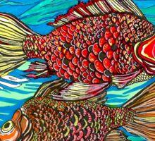 Fish - colored Sticker