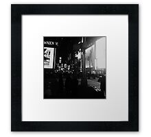 Dark New York Framed Print