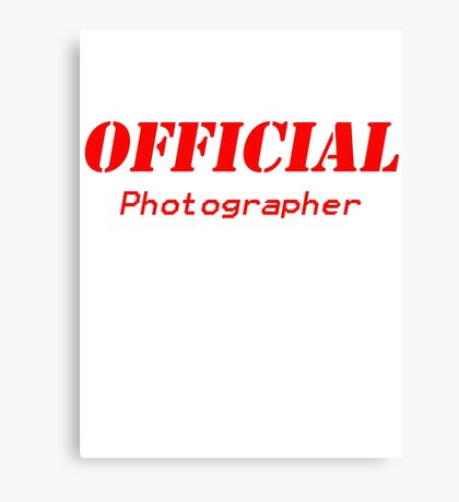 Official Photographer Canvas Print