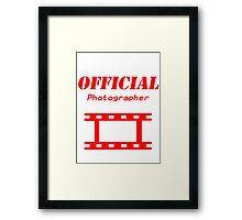 Official Photographer Framed Print