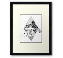 Air&Earth (AV) Mountain top Framed Print