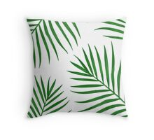 Tropical Leaf Print Throw Pillow