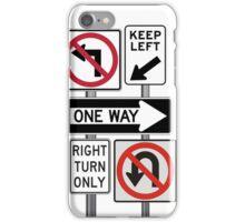 traffic sign iPhone Case/Skin