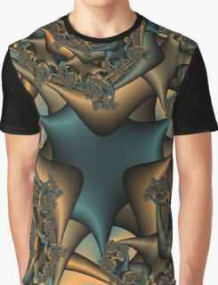 Faded Rose Fractal Graphic T-Shirt